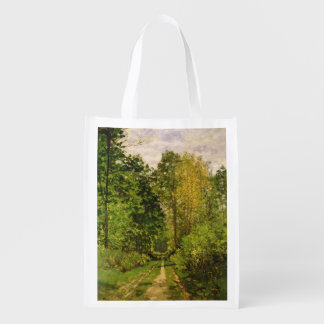 Claude Monet | Wooded Path Reusable Grocery Bag