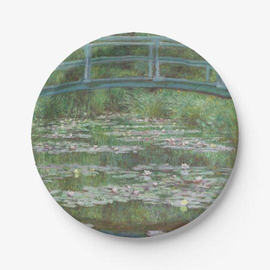 Claude Monet's The Japanese Footbridge 7 Inch Paper Plate