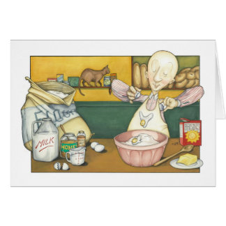 Claude the Baker making Dough Card