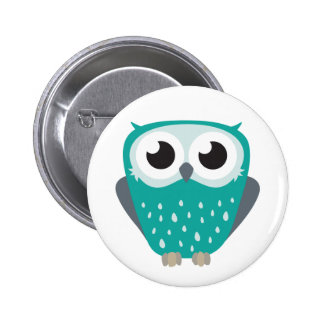Claude the Little Owl 2 Inch Round Button