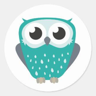 Claude the Little Owl Classic Round Sticker