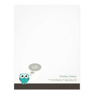 Claude the Little Owl Personalizable Letterhead