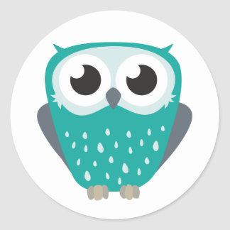 Claude the Little Owl Round Sticker