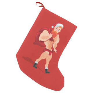 Claus saint small christmas stocking