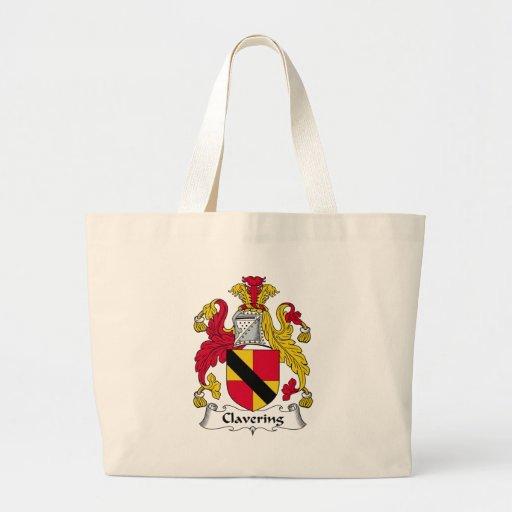 Clavering Family Crest Canvas Bag