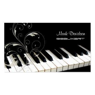 Clavier de piano+remous cartes de visite de profes cartes de visite personnelles