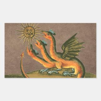 Clavis Artis Alchemy Dragons Leather Sticker
