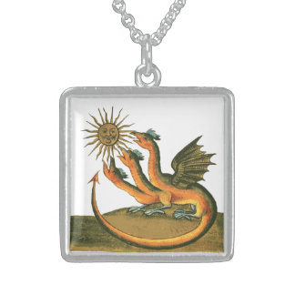 Clavis Artis Alchemy Dragons Sterling Silver Necklace