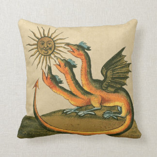 Clavis Artis Alchemy Dragons Throw Pillow