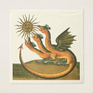 Clavis Artis Dragons Paper Napkin