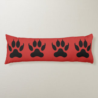 Claw and hand print design body pillow