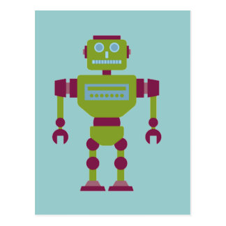 Claw Handed Robot Postcard
