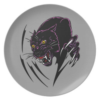 Clawing Panther Plates
