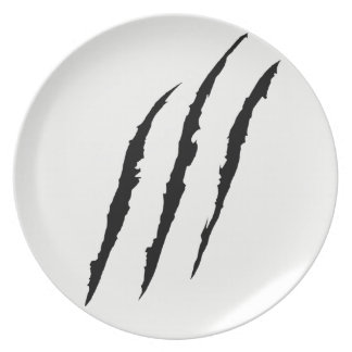 Claws Scratched plate