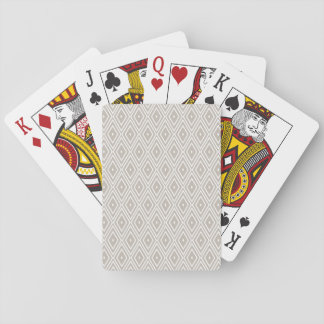 Clay and White Diamond Pattern Playing Cards