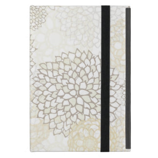 Clay and White Flower Burst Design Cover For iPad Mini