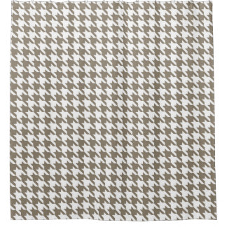 Clay and White Houndstooth Pattern