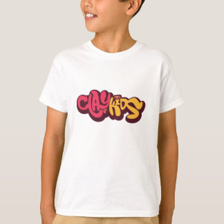 Clay Kids - Logo white t-shirt