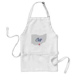 Clay Ohio OH Shirt Standard Apron