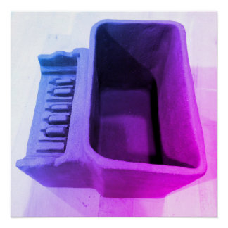 Clay Piano Pot in Purples and Blues Poster