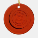 CLAY PIGEON ORNAMENT