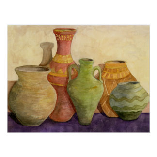 Clay Pots Poster