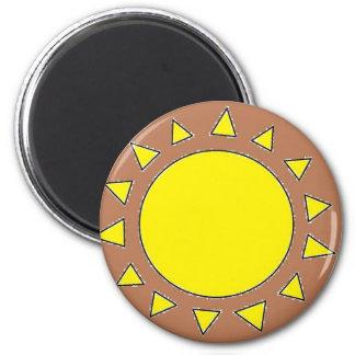Clay Sun Symbol Magnet
