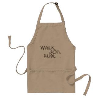 CLAY WALK JOG RUN (font SCRIBBLE) Standard Apron