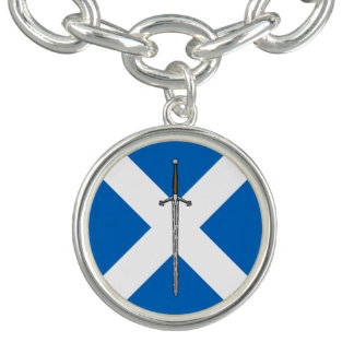 Claymore and Saltire Charm Bracelet