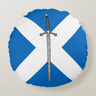 Claymore and Saltire Round Pillow