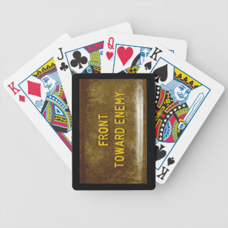 Claymore Mine Front Toward Enemy Playing Cards