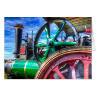 Clayton and Shuttleworth Traction engine Card