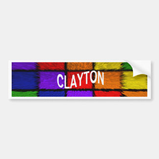 CLAYTON BUMPER STICKER