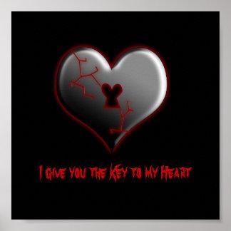 Clé à mon affiche de coeur