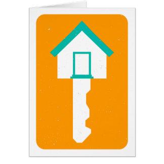 clé de maison carte de correspondance