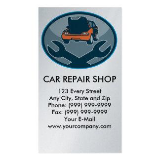 clé de réparation de mécanicien d'automobile de cartes de visite professionnelles