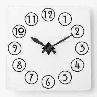 Clean and Simple Black on White Wallclocks