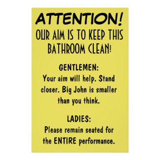Clean Bathroom. Poster
