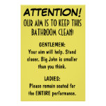 Clean Bathroom. Print