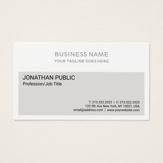 Clean Beige White Corporate Modern Elegant Business Card