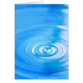 Clean blue water ripples card