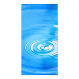Clean blue water ripples photo cards