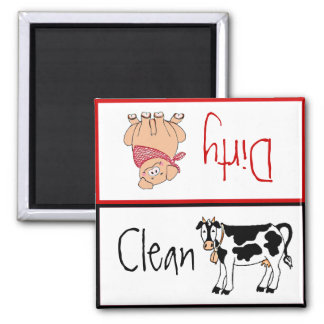 Clean Dirty Country Kitchen Dishwasher Refrigerator Magnets