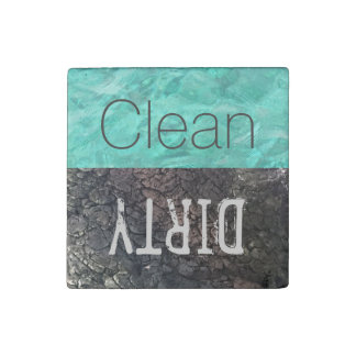 Clean | Dirty Dishes Dishwasher Stone Magnets