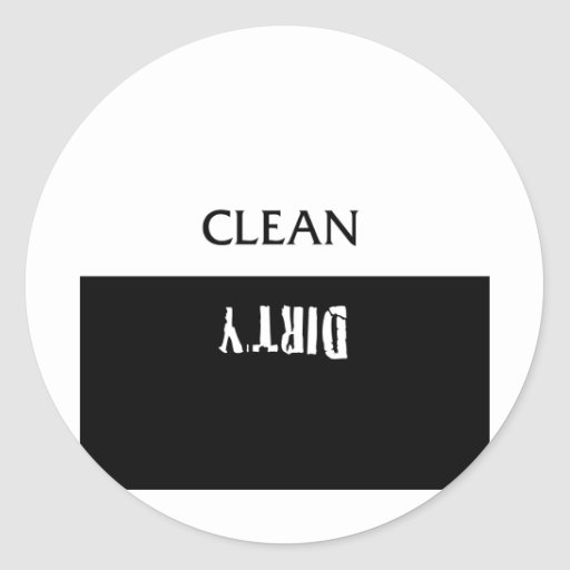 Clean Dirty Dishes Magnet Stickers