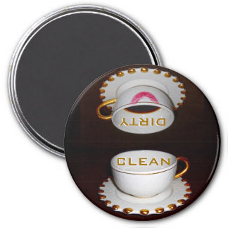 Clean Dirty Dishwasher Kitchen 3 Inch Round Magnet