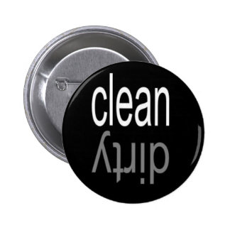 Clean/Dirty Dishwasher Magnet 2 Inch Round Button