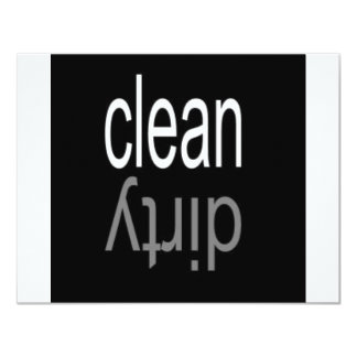 "Clean/Dirty Dishwasher Magnet 4.25"" X 5.5"" Invitation Card"