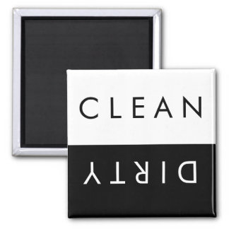 Clean/Dirty Dishwasher Magnet in Black/White