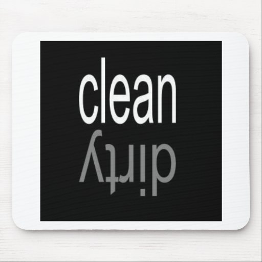 Clean/Dirty Dishwasher Magnet Mousepads